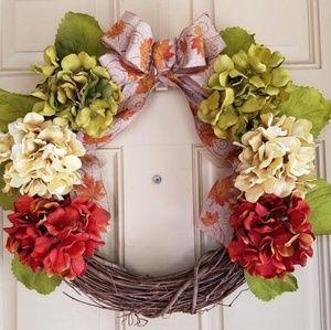 Handmade fall door wreath